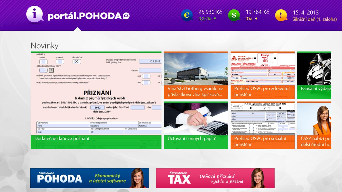 Aplikace Portál POHODA pro Windows Store - Portál POHODA 570dcb5f85a